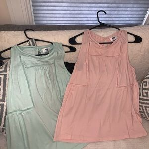 Two shirts! Blush and Mint Green